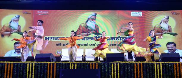 IND: Delhi CM Arvind Kejriwal Addresses Pratibha Samman Samaroh On Maharishi Valmiki Jayanti At Tyagraj Stadium