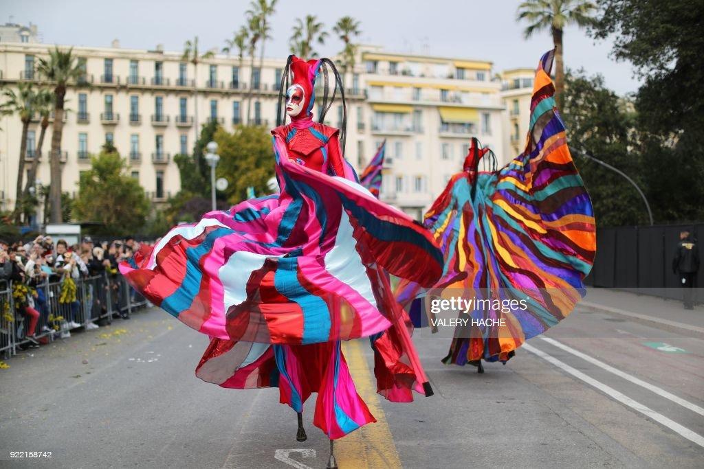 FRANCE-CARNIVAL-FESTIVAL-NICE : News Photo