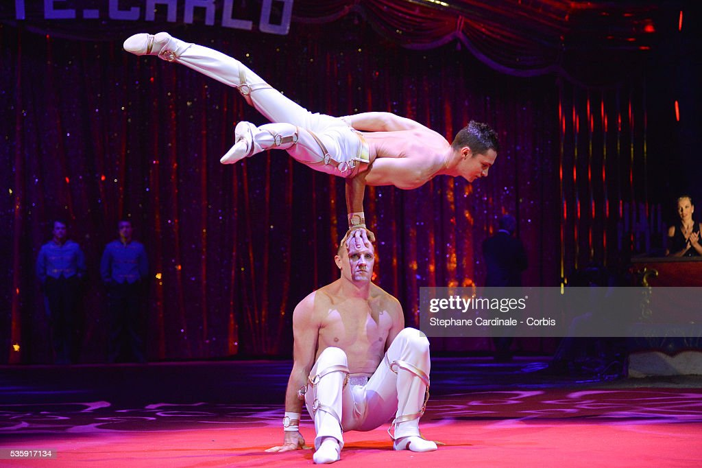 Artists perform during the 38th International Circus Festival, in Monaco.