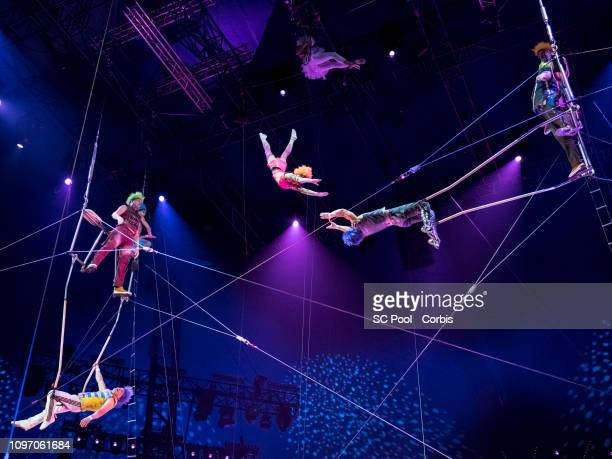 Artists perform during the 43rd International Circus Festival of MonteCarlo on January 20 2019 in Monaco Monaco