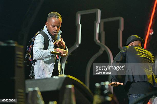 Artists perform during the 7th annual Maftown Heights 2016 concert at the Mary Fritzgerald Square on November 25 2016 in Johannesburg South Africa...
