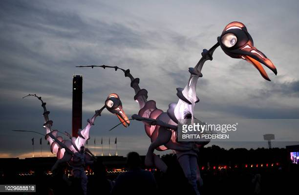Artists perform during the Lollapalooza music festival at the Olympia stadion stadium in Berlin on September 9 2018 / Germany OUT
