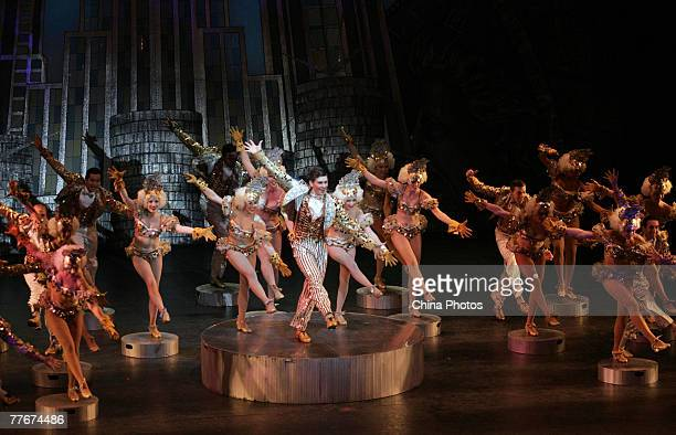 Artists perform during the musical 42nd Street on November 4 2007 in Wuhan of Hubei Province China 42nd Street is the second longest running American...