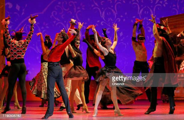 Artists perform during the musical comedy 'An American in Paris' at 'Theatre du Chatelet' on November 27, 2019 in Paris, France.