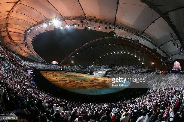 Artists perform during the Opening Ceremony of the 15th Asian Games Doha 2006 at the Khalifa stadium on December 1, 2006 in Doha, Qatar.
