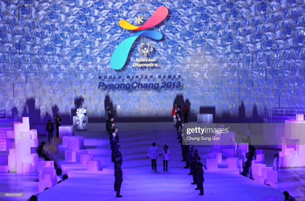 Artists perform during the Opening Ceremony of the 2013 Pyeongchang Special Olympics World Winter Games at the Yongpyeong stadium on January 29, 2013 in Pyeongchang-gun, South Korea.
