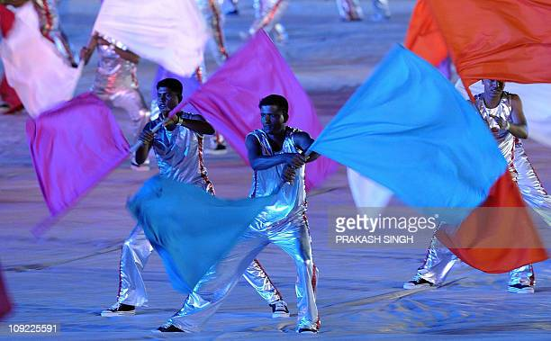 Artists perform during the opening ceremony of the Cricket World Cup at Bangabandhu stadium in Dhaka on February 17 2011 The opening ceremony of the...