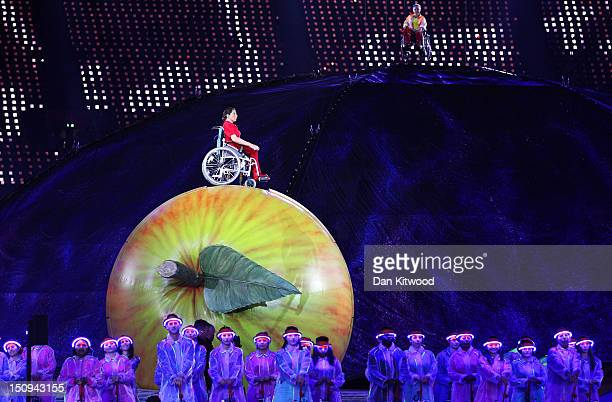 Artists perform during the Opening Ceremony of the London 2012 Paralympics at the Olympic Stadium on August 29 2012 in London England