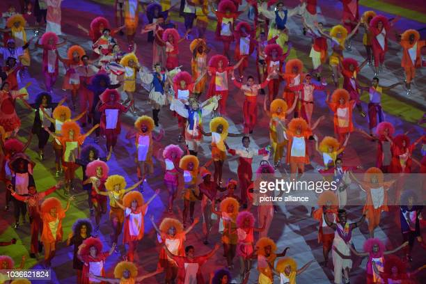 Artists perform during the opening ceremony of the Rio 2016 Olympic Games at the Maracana stadium in Rio de Janeiro, Brazil, 5 August 2016. Photo:...