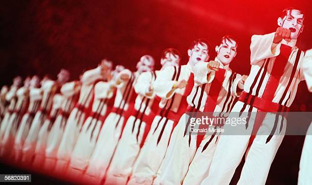 Artists perform during the Opening Ceremony of the Turin 2006 Winter Olympic Games on February 10, 2006 at the Olympic Stadium in Turin, Italy.