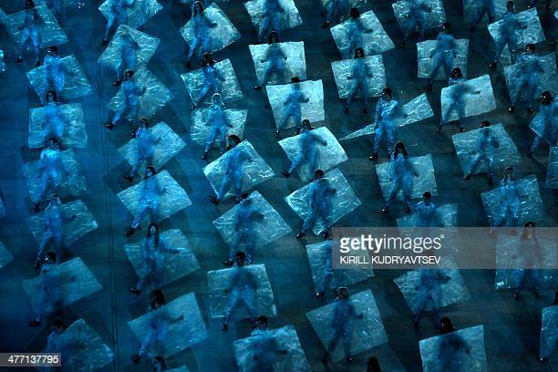 Artists perform during the Opening Ceremony of XI Paralympic Olympic games at the Fisht Olympic Stadium close to city of Sochi on March 7 2014 AFP...