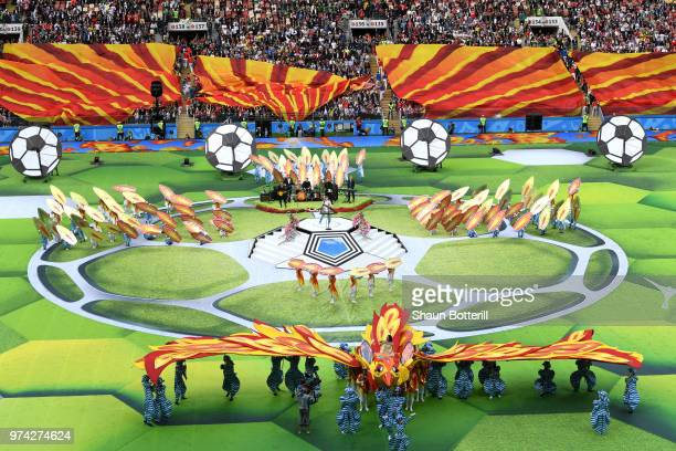 Artists perform in the Opening Ceremony prior to the 2018 FIFA World Cup Russia Group A match between Russia and Saudi Arabia at Luzhniki Stadium on...