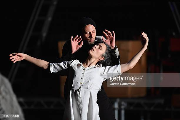 Artists perform on stage during a photocall for Swan Lake by Michael KeeganDolan at Sadlers Wells Theatre on November 25 2016 in London England