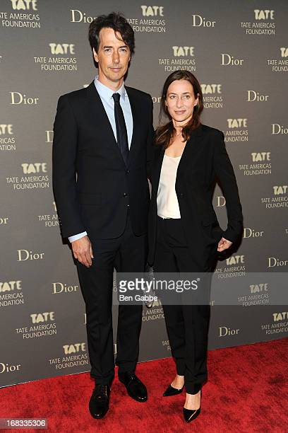 Artists Richard Phillips and Josephine Meckseper attend the Tate Americas Foundation Artists Dinner at Skylight at Moynihan Station on May 8, 2013 in...
