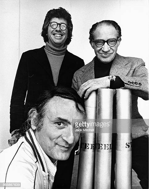 Artists Roy Lichtenstein Kenneth Koch and Paul Reiff 1972 Photo by Jack Mitchell/Getty Images