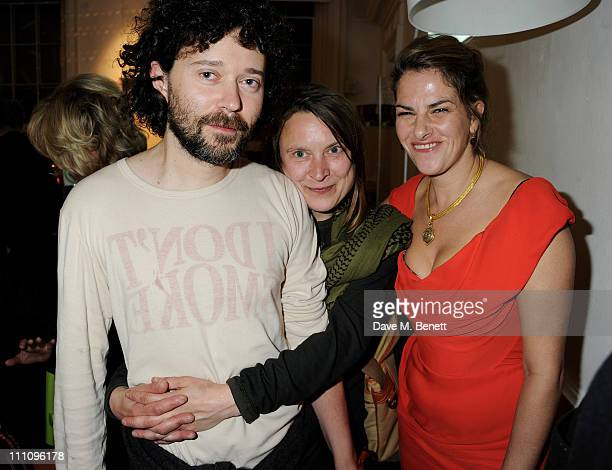 Artists Sarah Lucas and Tracey Emin attend The ICA Fundraising Gala held at the Institute of Contemporary Arts on March 29 2011 in London England