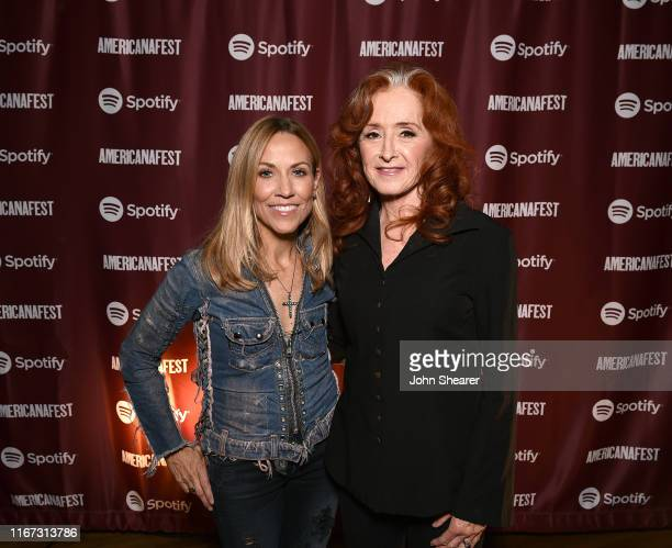 Artists Sheryl Crow and Bonnie Raitt attend a special event hosted by Spotify and AmericanaFest at Cannery Ballroom on September 10 2019 in Nashville...