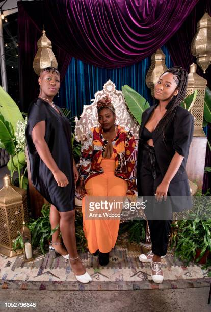 Artists Theresa Chromati Mahogany Browne and Sade Joseph attend Spotify Honors Black Female Creatives For Black History Is Happening Now Campaign on...