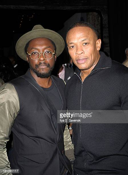 Artists william and Dr Dre attend the opening of the Beats By Dr Dre PopUp Store on November 2 2011 in New York City
