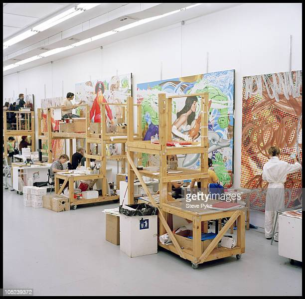 Artists working at Jeff Koons studio in New York City NY August 12 2009