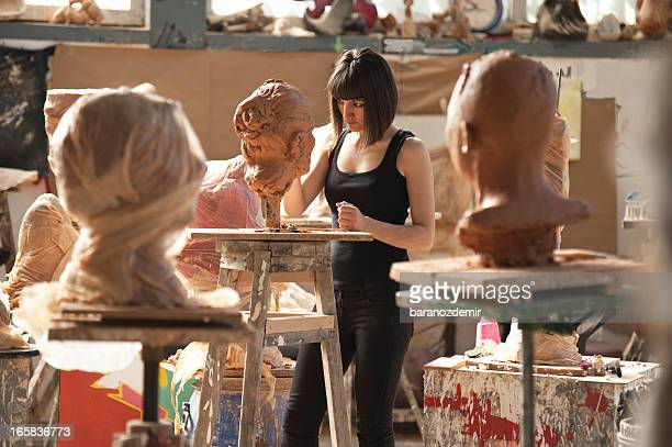 artist's workshop - sculptor stock pictures, royalty-free photos & images