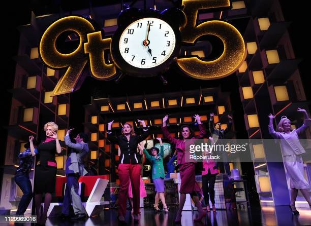 Artistsof the company in 9 To 5 The Musical directed by Jeff Calhoun at The Savoy Theatre on February 14 2019 in London England