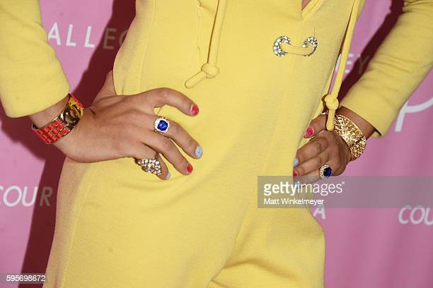 Artist/TV personality Sham Ibrahim jewellery detail attends the Courtney Allegra VIP Store Opening and Fashion Show on August 25 2016 in Los Angeles...