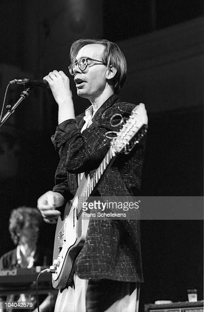 Arto Lindsay performs on stage at Paradiso on November 8 1985 in Amsterdam, Netherlands.