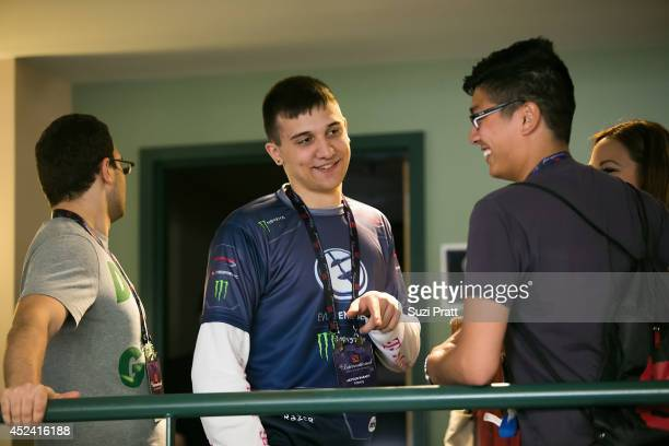 Artour 'Arteezy' Babaev of Evil Geniuses meets with fans at The International DOTA 2 Champsionships at Key Arena on July 19 2014 in Seattle Washington