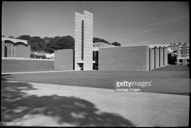 Arts A and B including the courtyard pool Gardner Arts Centre University of Sussex Brighton circa 1966c1980 The front elevation of the Arts building...