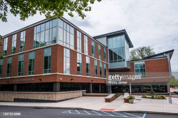 arts and administration building at bloomsburg university - brycia james stock pictures, royalty-free photos & images