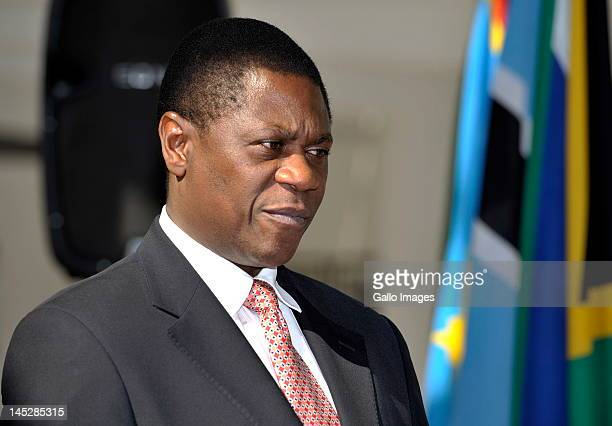 Arts and Culture Minister Paul Mashatile during the signing of the African Cultural Renaissance Charter on May 25 2012 in Johannesburg South Africa...