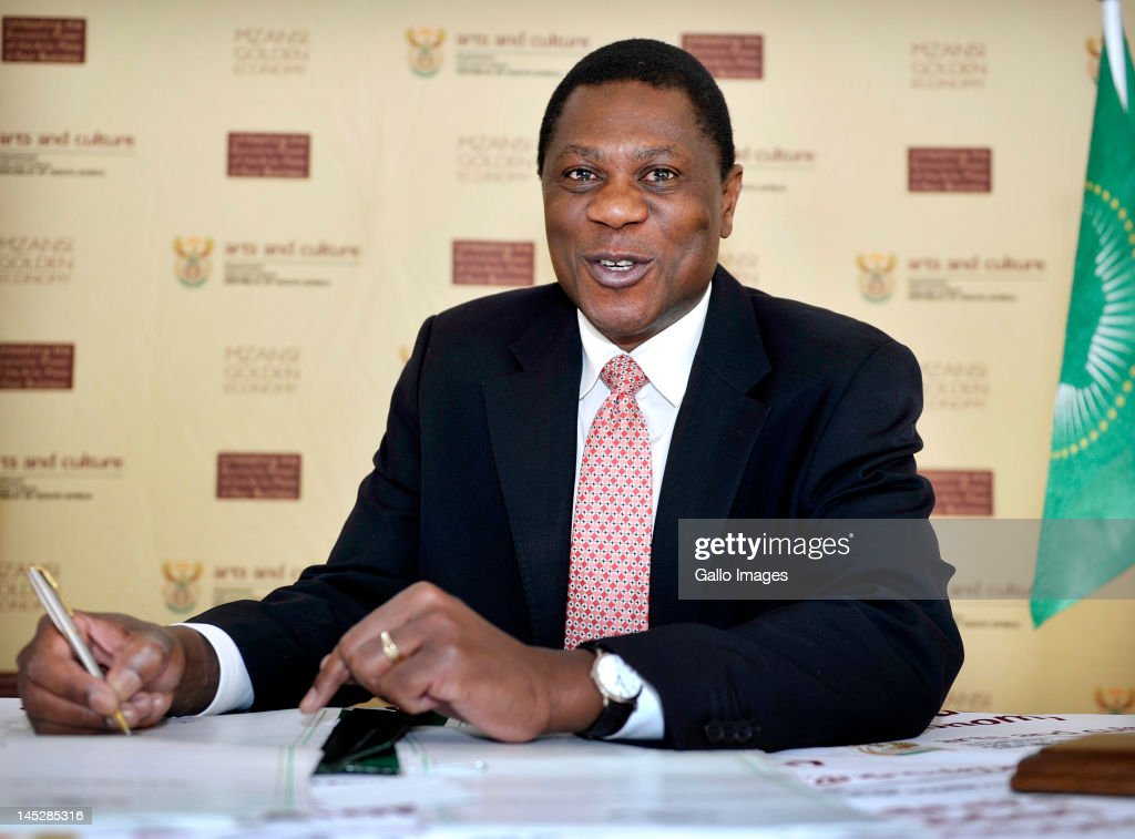 Arts and Culture Minister Paul Mashatile during the signing of the African Cultural Renaissance Charter on May 25, 2012 in Johannesburg, South Africa. Paul Mashatile signed the charter on behalf of South Africa, joining its aim to promote and strengthen the culture and identity of African Union Member States.