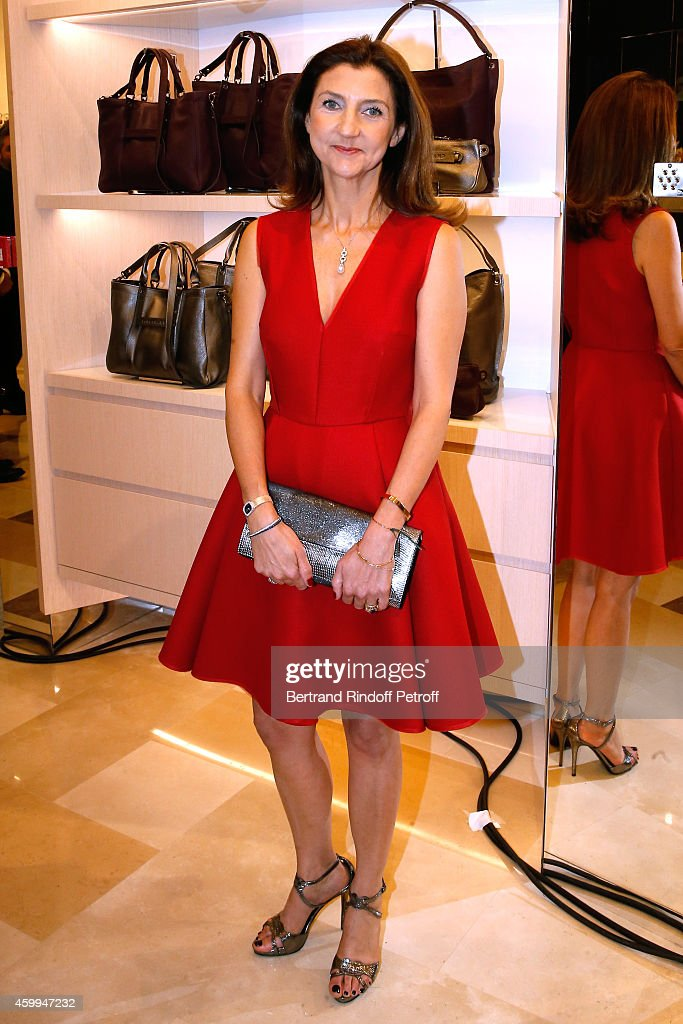 Arts Director of Longchamp Sophie Delafontaine attends the Longchamp Elysees 'Lights On Party' Boutique Launch on December 4, 2014 in Paris, France.
