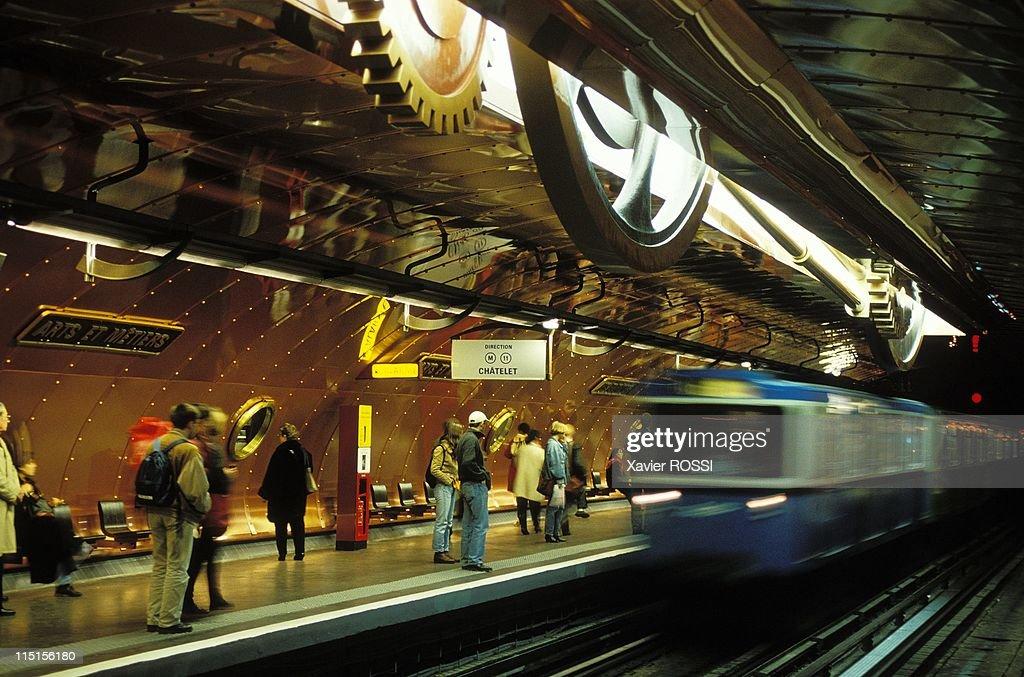 U0027Arts Et Metiersu0027 Paris Subway Station With New Decoration U0027Nautilusu0027  France On