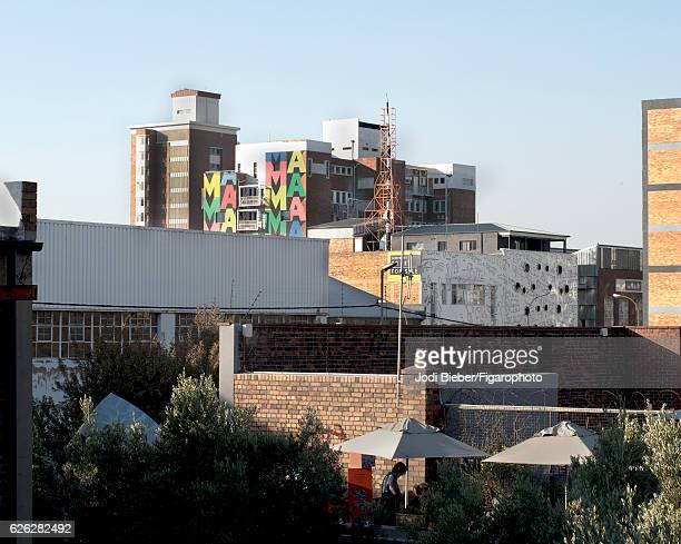 Arts on Main is photographed for Madame Figaro on June 25 2016 in Johannesburg South Africa Located in the Mabonbeng neighbourhood Arts on Main is a...