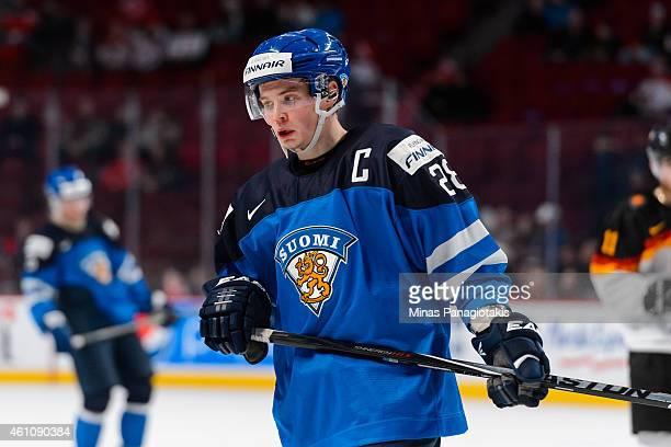 Artturi Lehkonen of Team Finland skates in a preliminary round game during the 2015 IIHF World Junior Hockey Championships against Team Germany at...