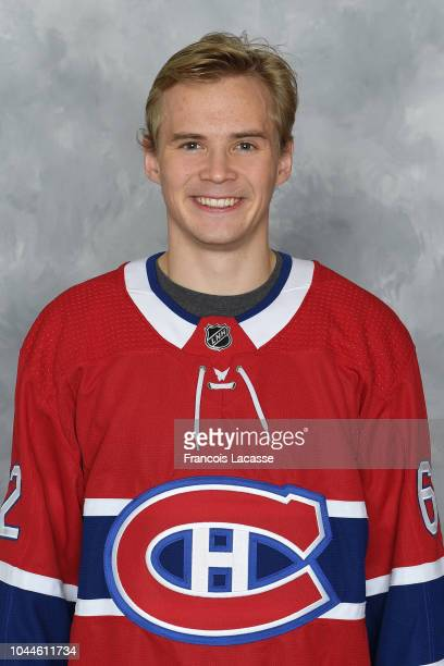 Artturi Lehkonen of the Montreal Canadiens poses for his official headshot for the 20182019 season on September 13 2018 at the Bell Sports Complex in...