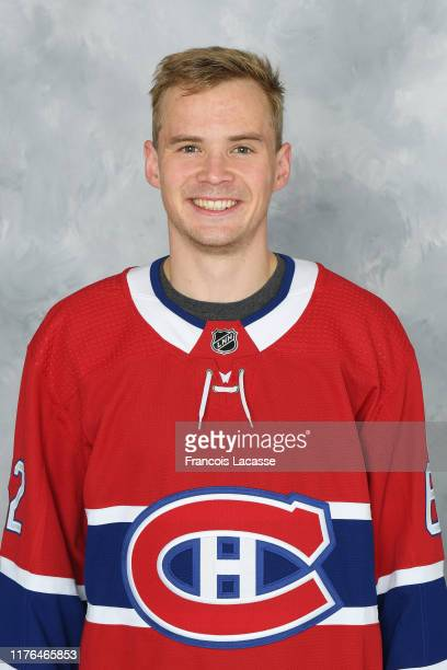 Artturi Lehkonen of the Montreal Canadiens poses for his official headshot for the 20192020 season on September 13 2019 at the Bell Sports Complex in...