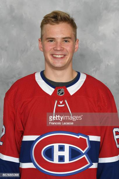 Artturi Lehkonen of the Montreal Canadiens poses for his official headshot for the 20172018 season on September 14 2017 at the Bell Sports Complex in...