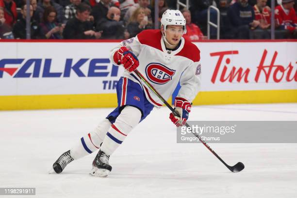Artturi Lehkonen of the Montreal Canadiens skates against the Detroit Red Wings at Little Caesars Arena on January 07 2020 in Detroit Michigan