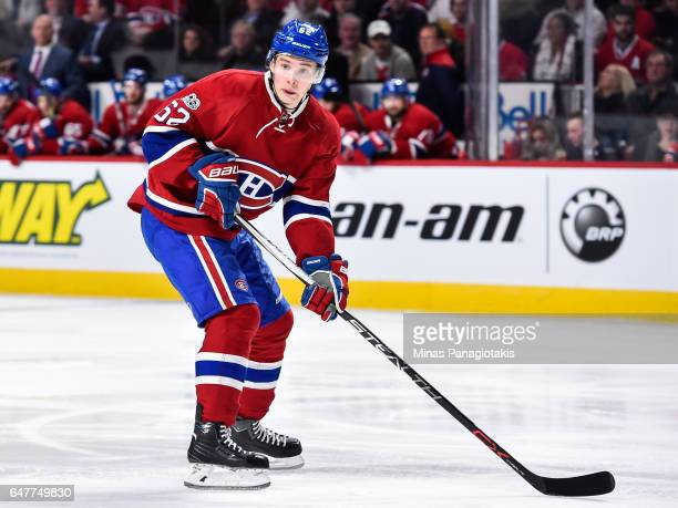 Artturi Lehkonen of the Montreal Canadiens skates during the NHL game against the Nashville Predators at the Bell Centre on March 2 2017 in Montreal...