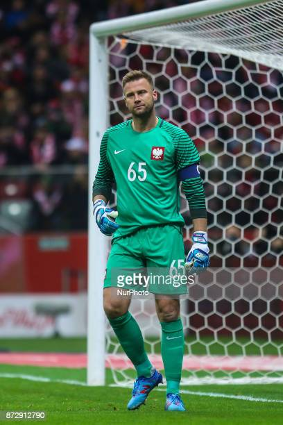 Artur Boruc in action during the international friendly match between Poland and Uruguay at National Stadium on November 10 2017 in Warsaw Poland