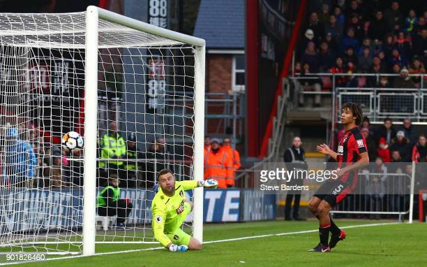 Artur Boruc of AFC Bournemouth fails to stop the own goal by Emerson Hyndman of AFC Bournemouth during The Emirates FA Cup Third Round match between...