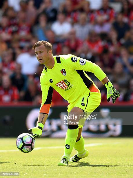 Artur Boruc of AFC Bournemouth in action during the Premier League match between AFC Bournemouth and Manchester United at Vitality Stadium on August...