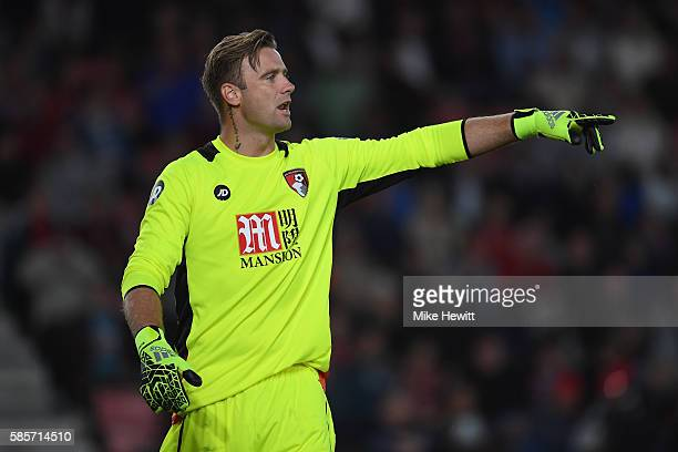 Artur Boruc of Bournemouth in action during a preseason friendly between Bournemouth and Valencia at the Vitality Stadium on August 3 2016 in...