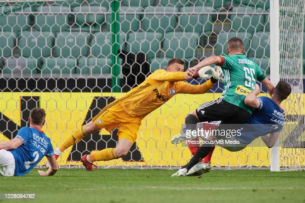 Artur Boruc of Legia in action during UEFA Champions League First Qualifying Round match between Legia Warsaw and Linfield at Stadion Wojska...