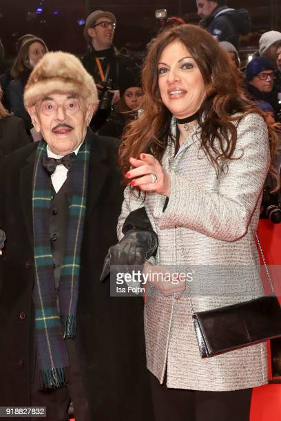 Artur Brauner and his daughter Alice Brauner attend the Opening Ceremony 'Isle of Dogs' premiere during the 68th Berlinale International Film...