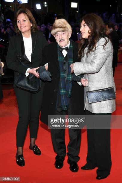 Artur Brauner with his daughter Alice Brauern and Bettina Bernhard attend the Opening Ceremony 'Isle of Dogs' premiere during the 68th Berlinale...