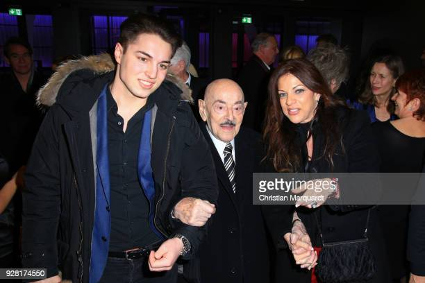 Artur Brauner with his daughter Alice Brauner and his grandson David Zechbauer attend the 50th anniversary celebration of FFA at Pierre Boulez Saal...